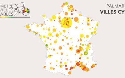 Palmarès du Baromètre Parlons vélo des villes cyclables 2019