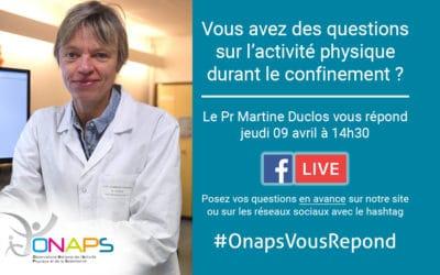 #OnapsVousRepond : Posez-nous vos questions sur l'activité physique durant le confinement